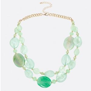 New Jade and Turquoise Two Strand Necklace